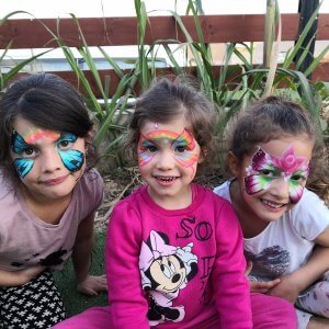 איפור לקבוצות ילדים